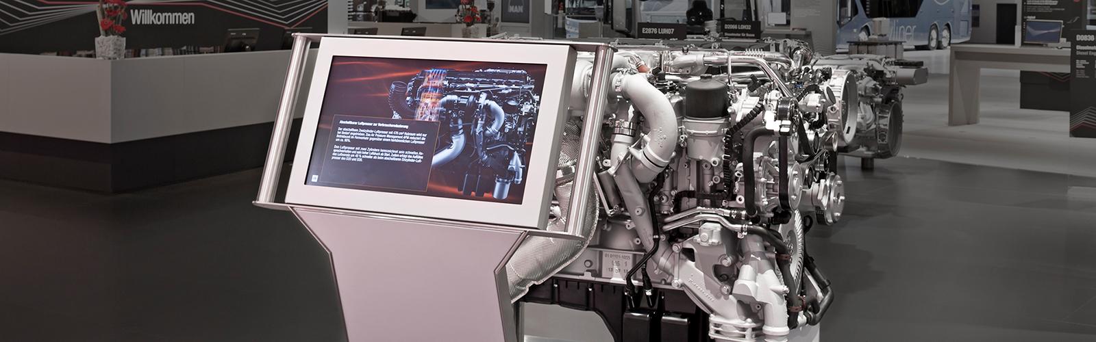 Braunwagner Digital und Media Design shift screen scanner MAN IAA 2014