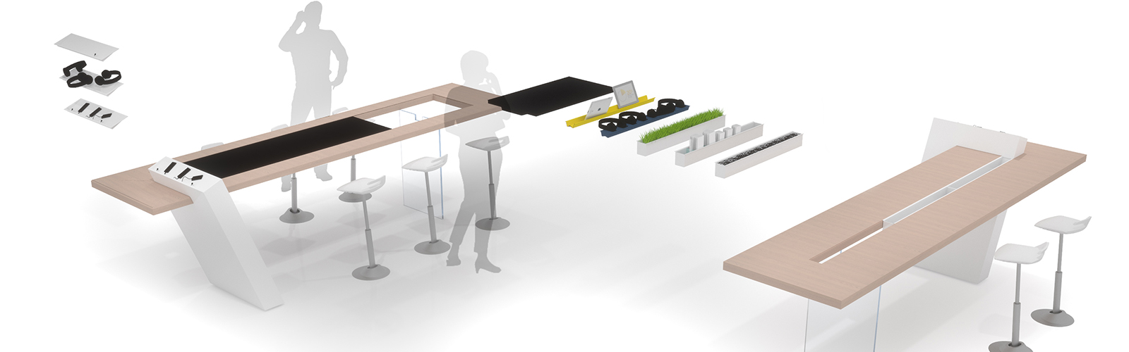 Braunwagner Produkt Industrie Mobility Design Modular table system 2017