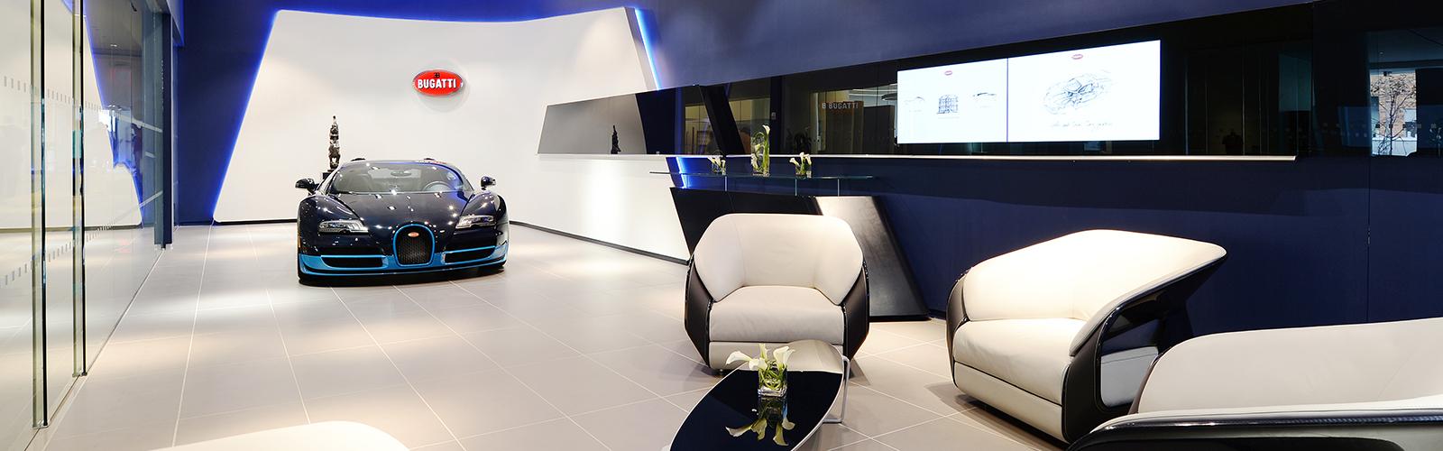 Braunwagner Spatial und Interior Design Bugatti Showrooms