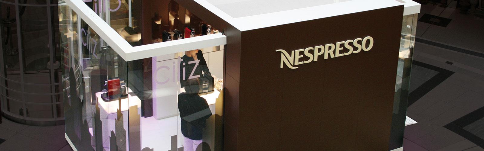 Braunwagner Spatial und Interior Design Nespresso mobiler Showroom Pixie, Cube und U&me