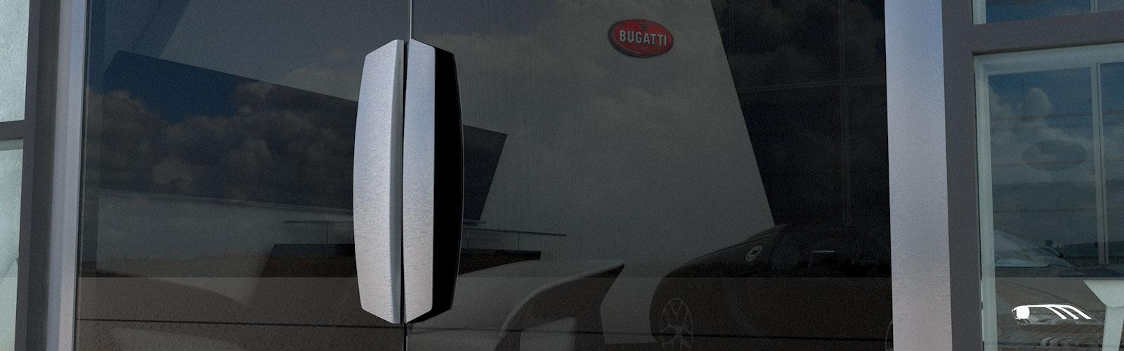 Braunwagner Produkt Industrie Mobility Design Bugatti Türgriffe für Showrooms
