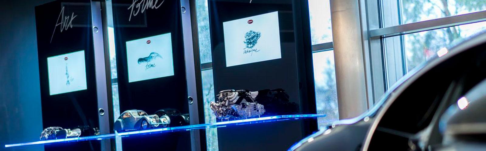 Braunwagner Spatial Interior Design Bugatti Showrooms worldwide